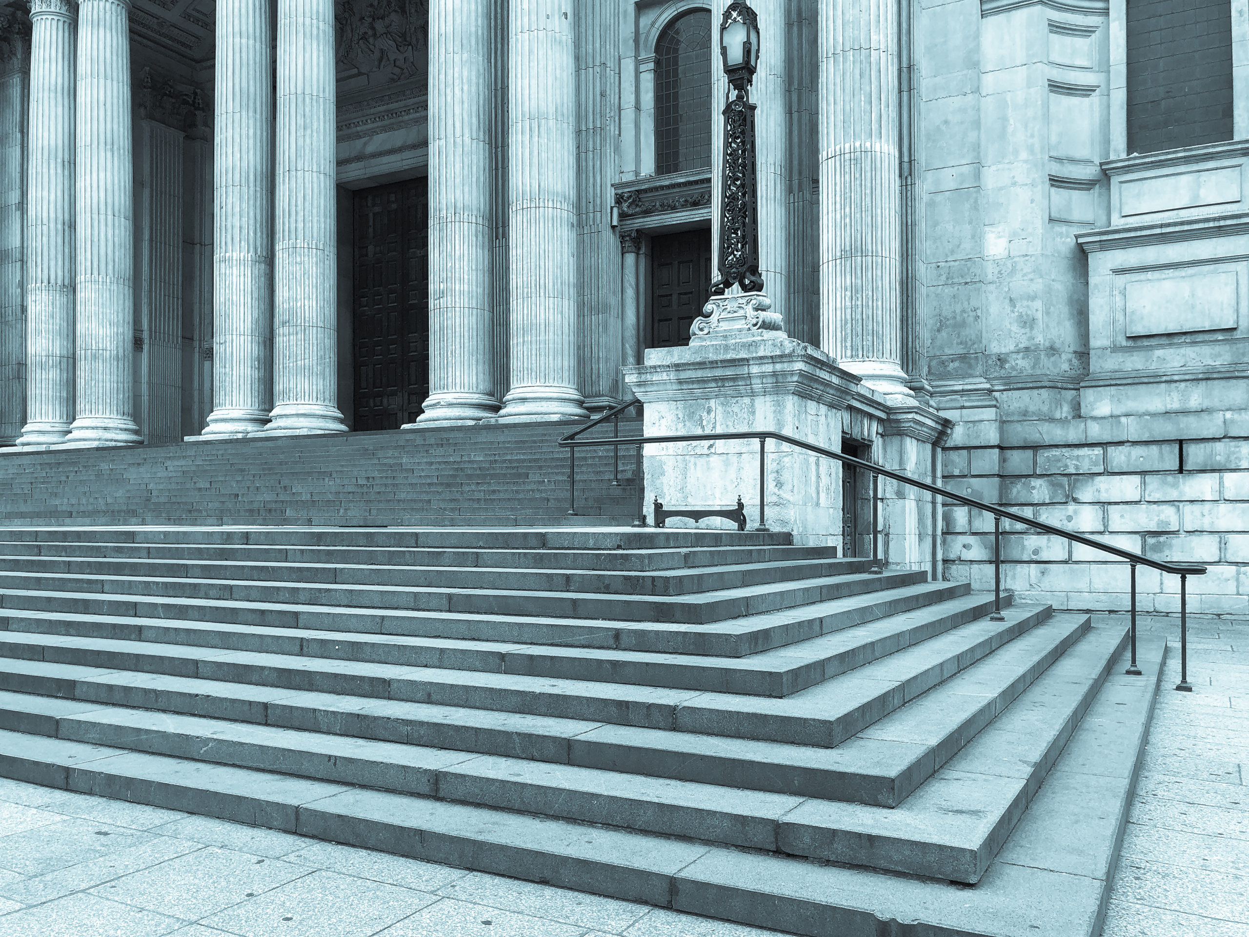 Koger Law — Stairs leading to courthouse